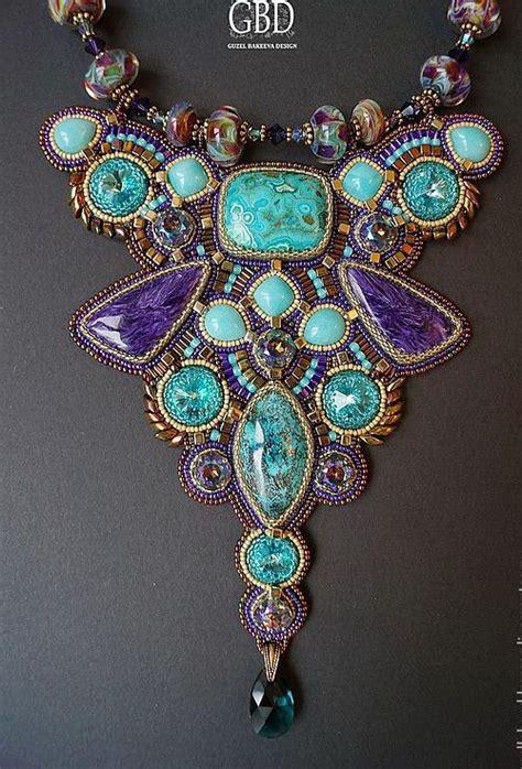 beading dreams amazing bead embroidered jewelry by guzel bakeeva
