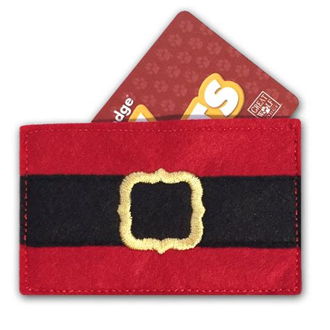 Gift Card Carrier - santa pants gift card holder weallsew