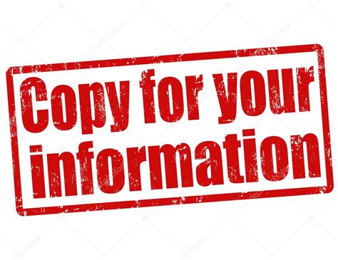 copy rubber st copy for your information st stock vector