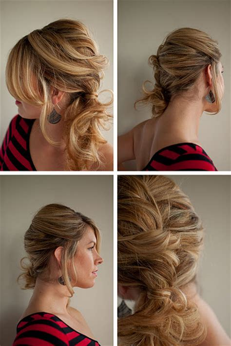 twist and ponytail hairstyles the twist pin curly side ponytail trendy fashion
