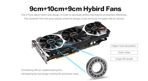 3 fan graphics card yeston rx580 8g ddr5 256bit graphics card three fans