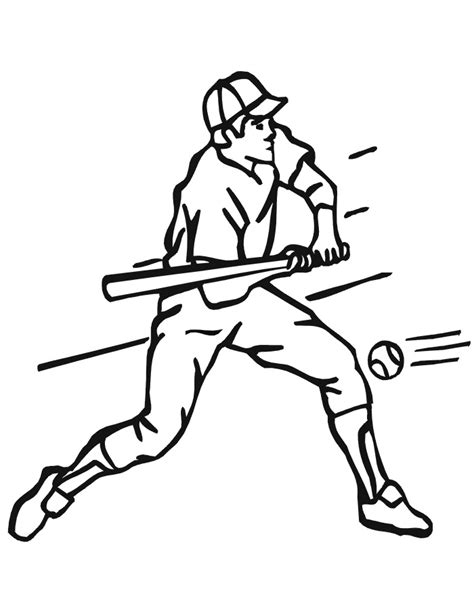 baseball coloring page free baseball font with sketch coloring page
