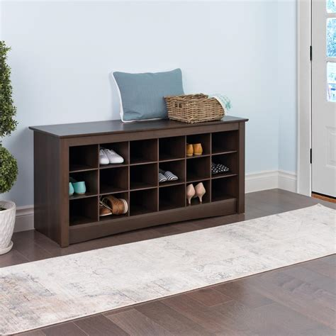 entry way shoe storage prepac entryway shoe storage cubbie bench espresso ess 4824