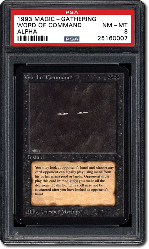 mtg card template word psa set registry collecting the 1993 magic the gathering