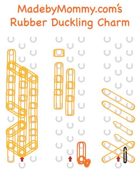 printable directions for rubber band bracelets duck animal collection made by mommy madebymommy com