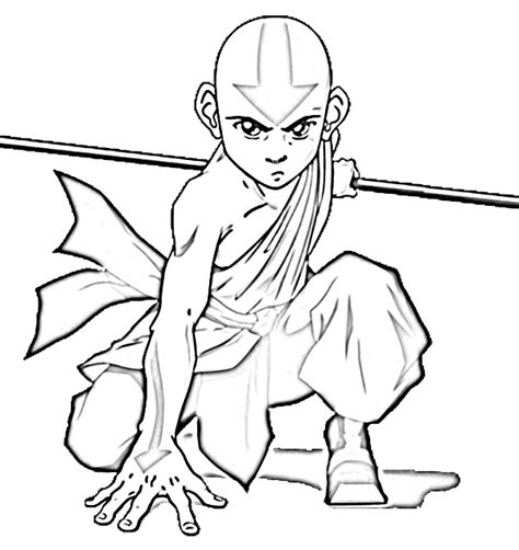 avatar last airbender free colouring pages