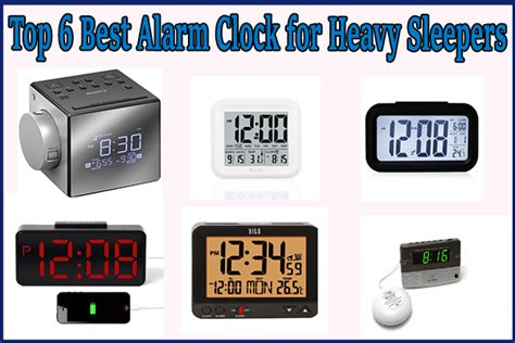 top 6 best alarm clock for heavy sleepers reviews and