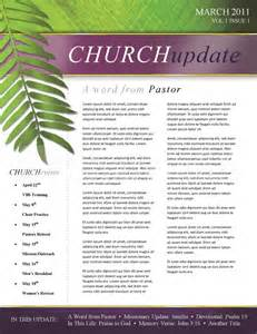 Sunday School Newsletter Templates by Palm Sunday Church Newsletter Template Template