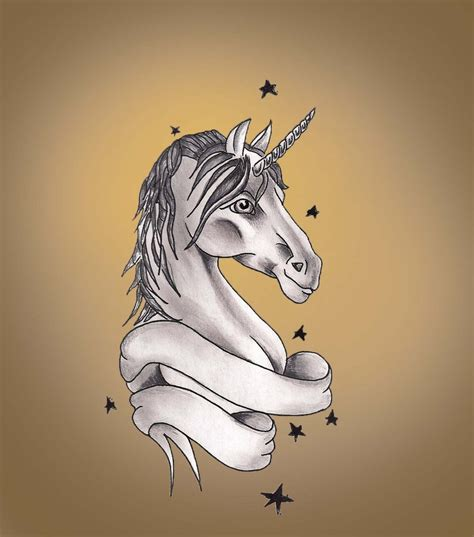 rainbow unicorn tattoo designs unicorn design by hausofch on deviantart