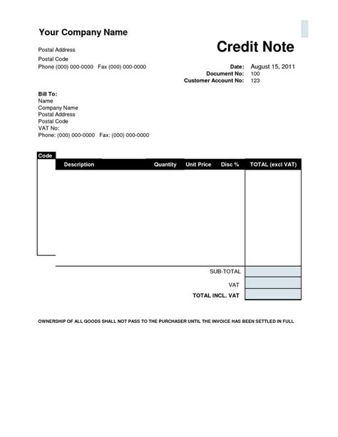 Format Of Credit Note In Pdf Credit Note Template Free Premium Templates Forms Sles For Jpeg Png Pdf