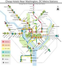 Dc Map With Metro Stops by Hotels In Washington Dc Near The Metro