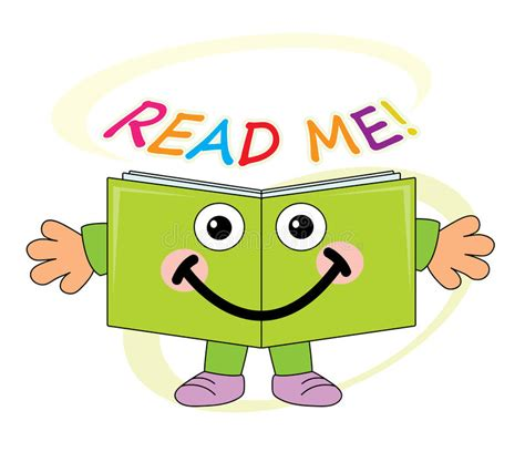 Me Me Me Read Online - happy book mascot read me stock vector illustration
