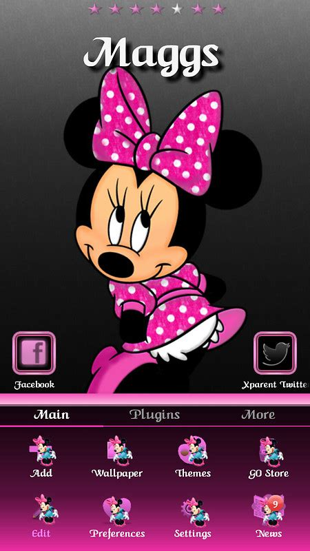 themes android minnie mouse minnie mouse free android theme download download the
