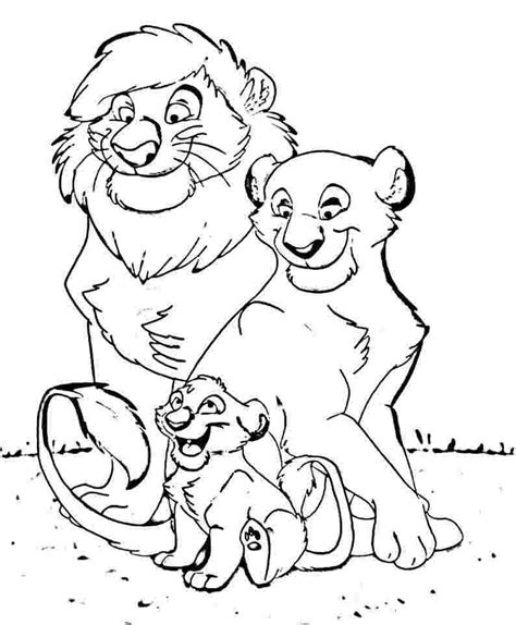 Galerry coloring pages lion