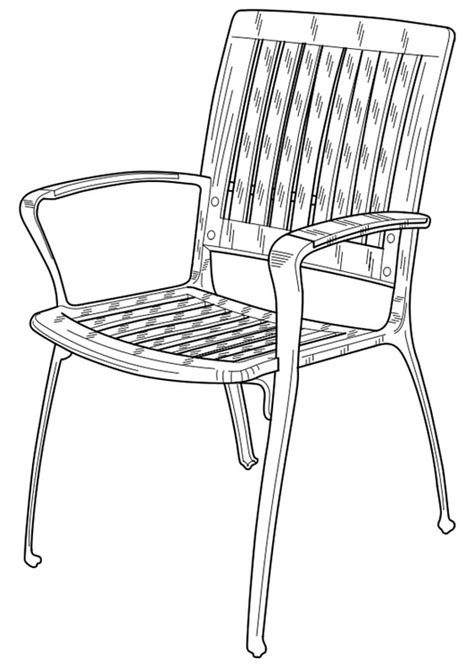 coloring page garden chair img 19102