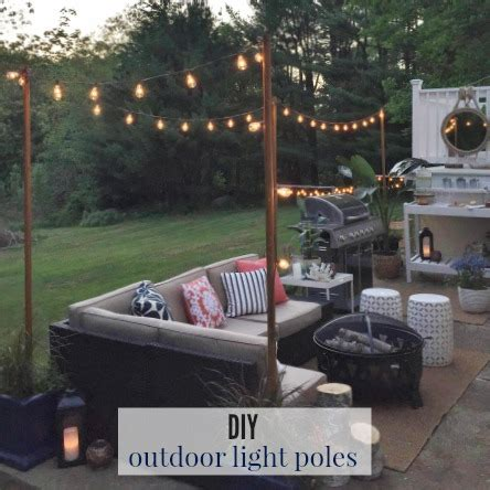 Permanent Patio Canopy Diy Outdoor Light Poles City Farmhouse