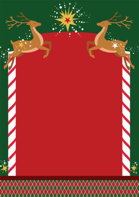 printable christmas paper frames christmas scrapbook paper reindeer frame