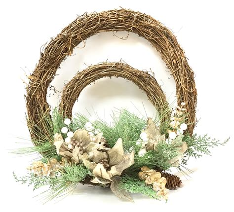 double twig poinsetta wreath sh10 fm325 7 70 toys