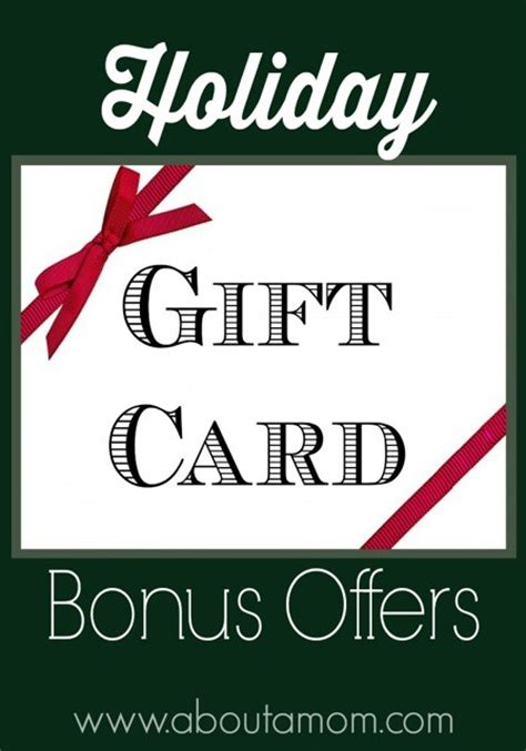 Holiday Gift Cards 2014 - holiday gift card promotions and bonus offers about a mom