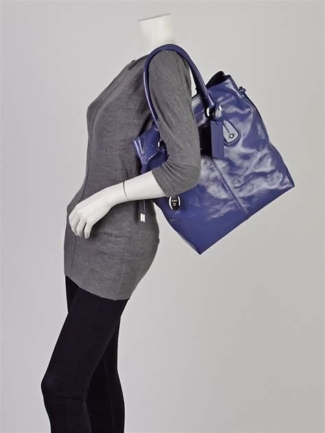 Tods Restyled D Bag Media by Tod S Purple Patent Leather New Restyling D Bag Vertical