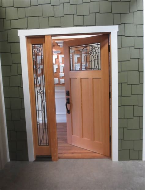 Contemporary Exterior Doors For Home Modern Exterior Front Doors With Frosted Glass Sidelite And Gray Stained Teak Wood Door Panel