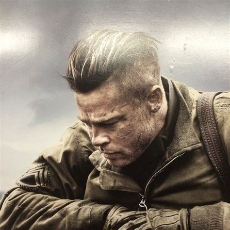 brad pitt s fury haircut a stylish undercut gallery brad pitt undercut fury haircuts pinterest brad