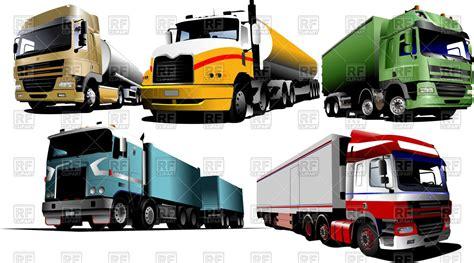 european  american trucks  tanks  trailers vector image vector artwork
