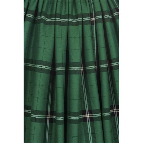 check swing collectif vintage jasmine evergreen check swing skirt