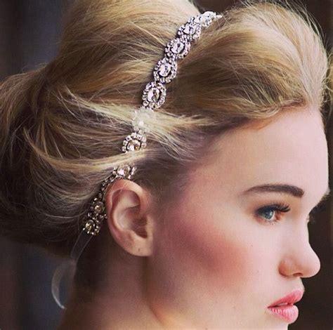 hairstyles with diamond headband diamonds headband hair pinterest diamond prom and