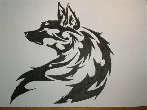 tribal wolf by akviles on deviantart
