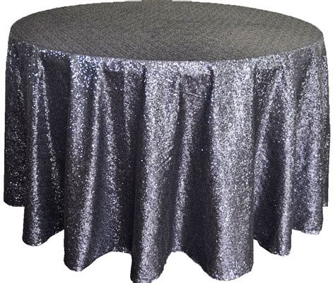 Sequin Table Cloths by Pewter Sequin Table Cover Linens 108 Quot