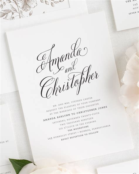 Modern Wedding Invitations by Rustic Modern Wedding Invitations Wedding Invitations By