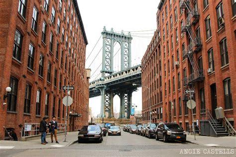 imagenes otoño en nueva york cruzar el puente de manhattan en nueva york