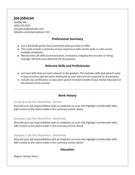 Best Functional Resume Format