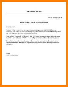 collections letter template 4 collection letters templates bid template