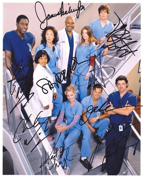 grey s anatomy cast offers hope for couples of grey sloan greys anatomy cast signed 8x10 autographed photo reprint