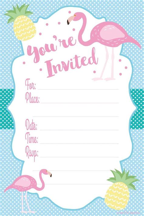 Amazonsmile Flamingo Luau Party Invitations Fill In Style 20 Count With Envelopes Health Flamingo Invitation Template Free