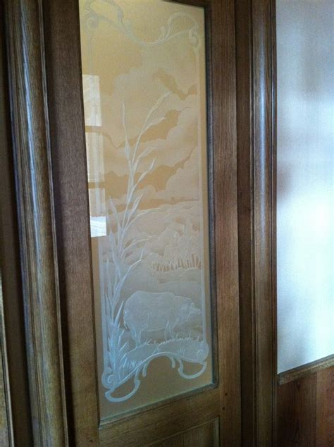Glass Etched Pantry Door by Custom Etched Glass Pantry Door Kitchen Design Ideas