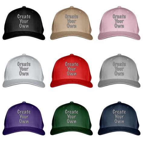 create your own embroidered baseball cap ebay