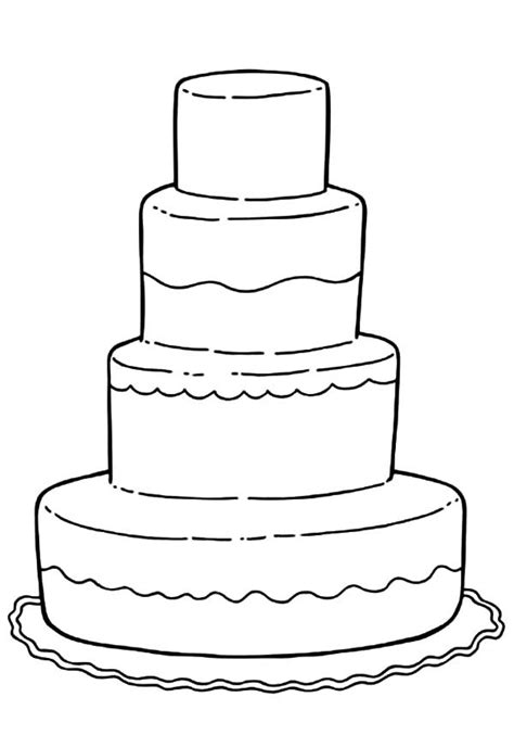 Wedding Cake Coloring Page cake wedding maze coloring pages