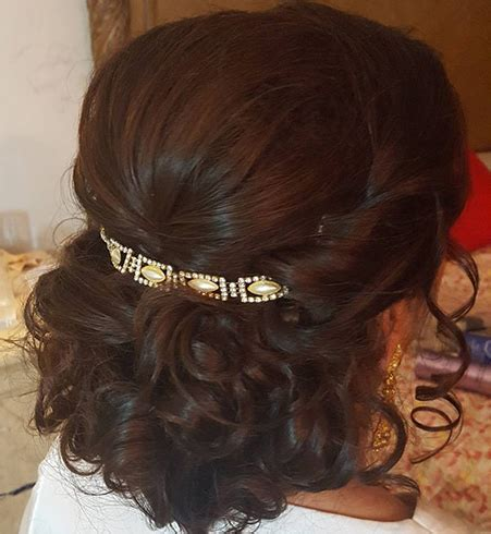 Fancy Curly Hairstyles by 60 Traditional Indian Bridal Hairstyles For Your Wedding