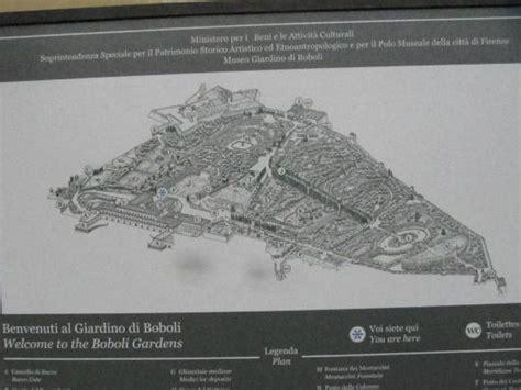giardino di boboli mappa la pianta dell intero parco foto di giardino di boboli
