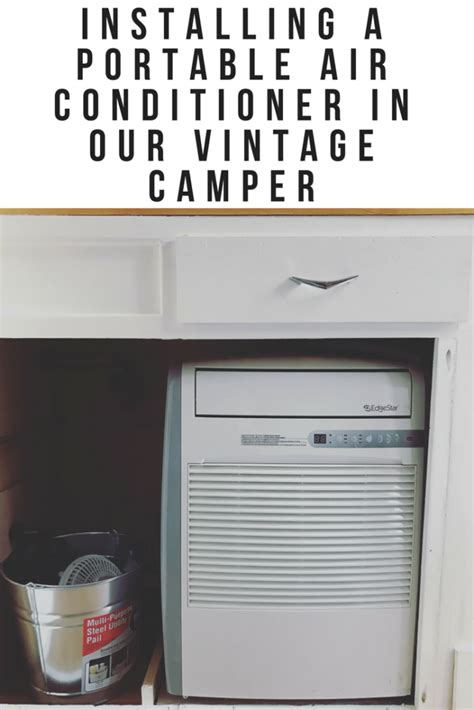 how to install portable air conditioner in awning window cool my cer with a portable air conditioner install