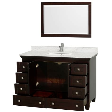 acclaim 48 quot espresso bathroom vanity set
