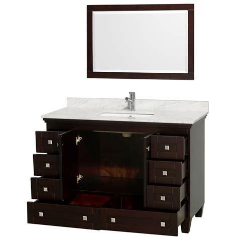 "Acclaim 48"" Espresso Bathroom Vanity Set"