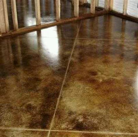 Stained concrete for basement floor   Home Ideas  Wants
