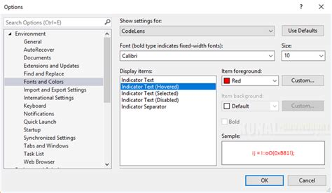 reset visual studio 2013 settings from command prompt here s how to change codelens indicator style in visual studio
