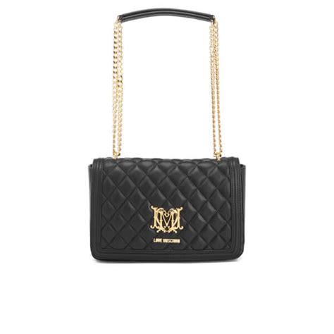 Chain Tote Bags Black moschino s quilted chain tote bag black
