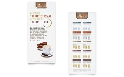 bakery flyer templates free rack card coffee shop rack card template design nonprofit