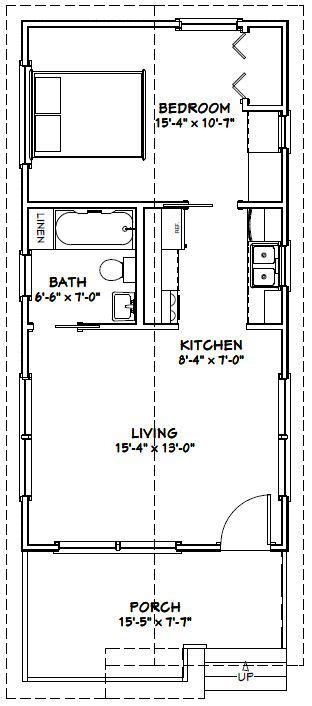 excellent floor plans 16x32 1 bedroom house 16x32h1a 511 sq ft